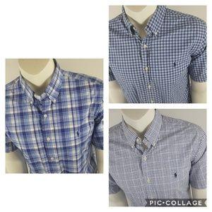 X3 Ralph Lauren short Sleeve Button front shirts L